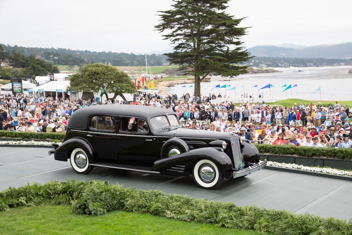 Class C-2: American Classic Closed, 1937 Cadillac Series 90 Fleetwood Seven Passenger Imperial Cabriolet, Skip & Susan Tetz, Goshen, New York
