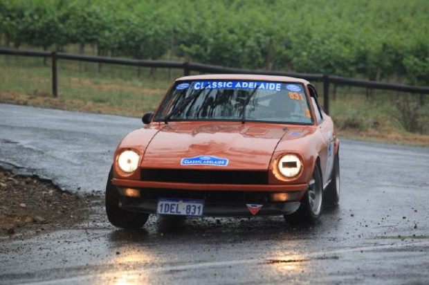 Datsun 240Z of David and Vicki Moir finished 2nd in the Classic category
