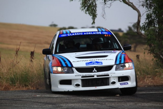 2007 Mitsubishi Lancer Evo 9 driven by Allan Simonsen and Matt Lee won the Modern category