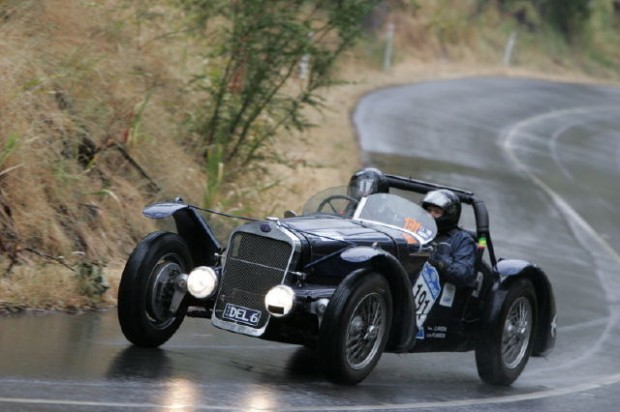 Beautiful 1936 Delage D670 Le Mans won the Historic category with John and Andrew Lawson behind the wheel