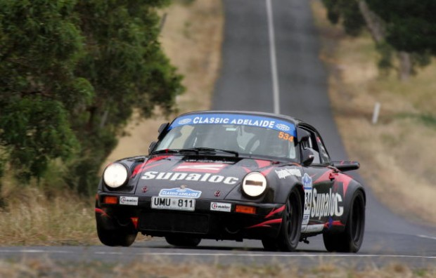 Overall winners Kevin Weeks and Bec Crunkhorn and their 1974 Porsche 911RS