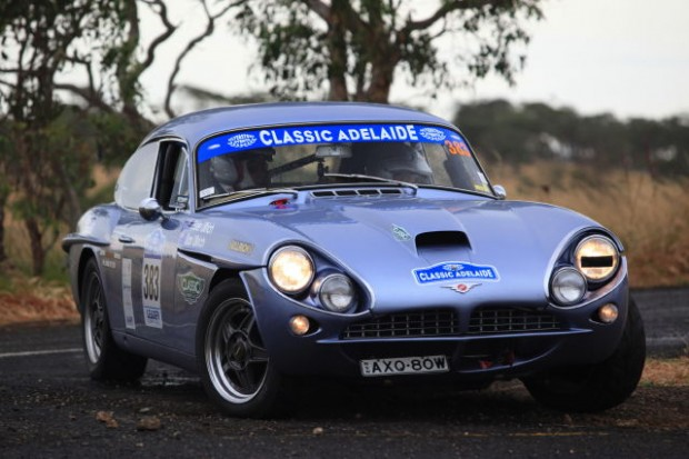 Peter and Sari Ulrich finished third in the Classic category with their 1963 Jensen CV8