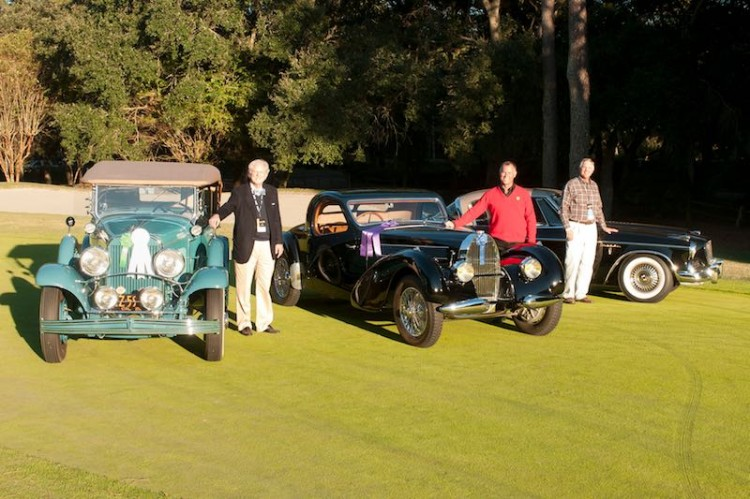 People's Choice, Best of Show and Doerring Award Winners at the 2014 Hilton Head Concours d'Elegance