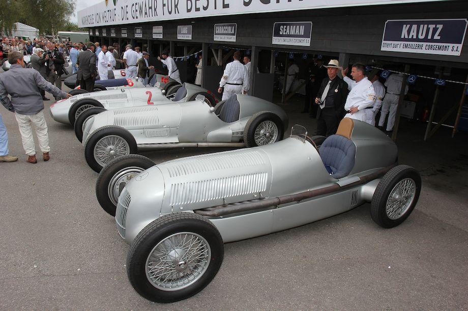 Mercedes-Benz Classic paddock at the 2012 Goodwood Revival.