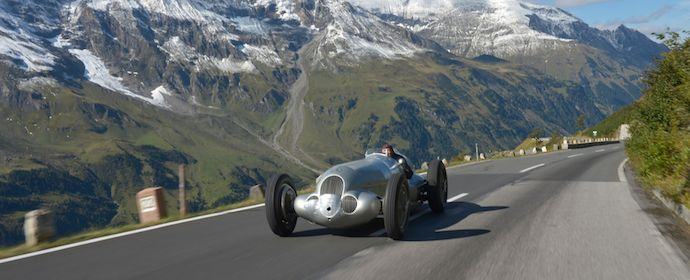 Jochen Mass in the 1937 Mercedes-Benz W125
