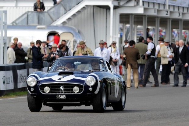 Sir Stirling Moss in the Ferrari 250 GT SWB at the 2011 Goodwood Revival (photo: Tim Scott)