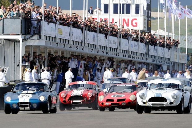 Start of the RAC Tourist Trophy race at the Goodwood Revival