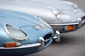 Jaguar E-Type at Goodwood Breakfast Club 2010