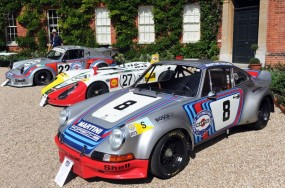 Factory race Porsches at Classics at the Castle Concours