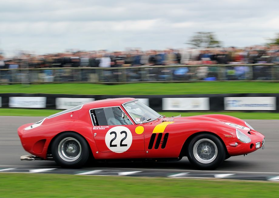 At the 2010 Goodwood Revival, Martin Brundle and Mark Hales took turns behind the wheel of the Ferrari 250 GTO (s/n 3757GT) owned by Nick Mason