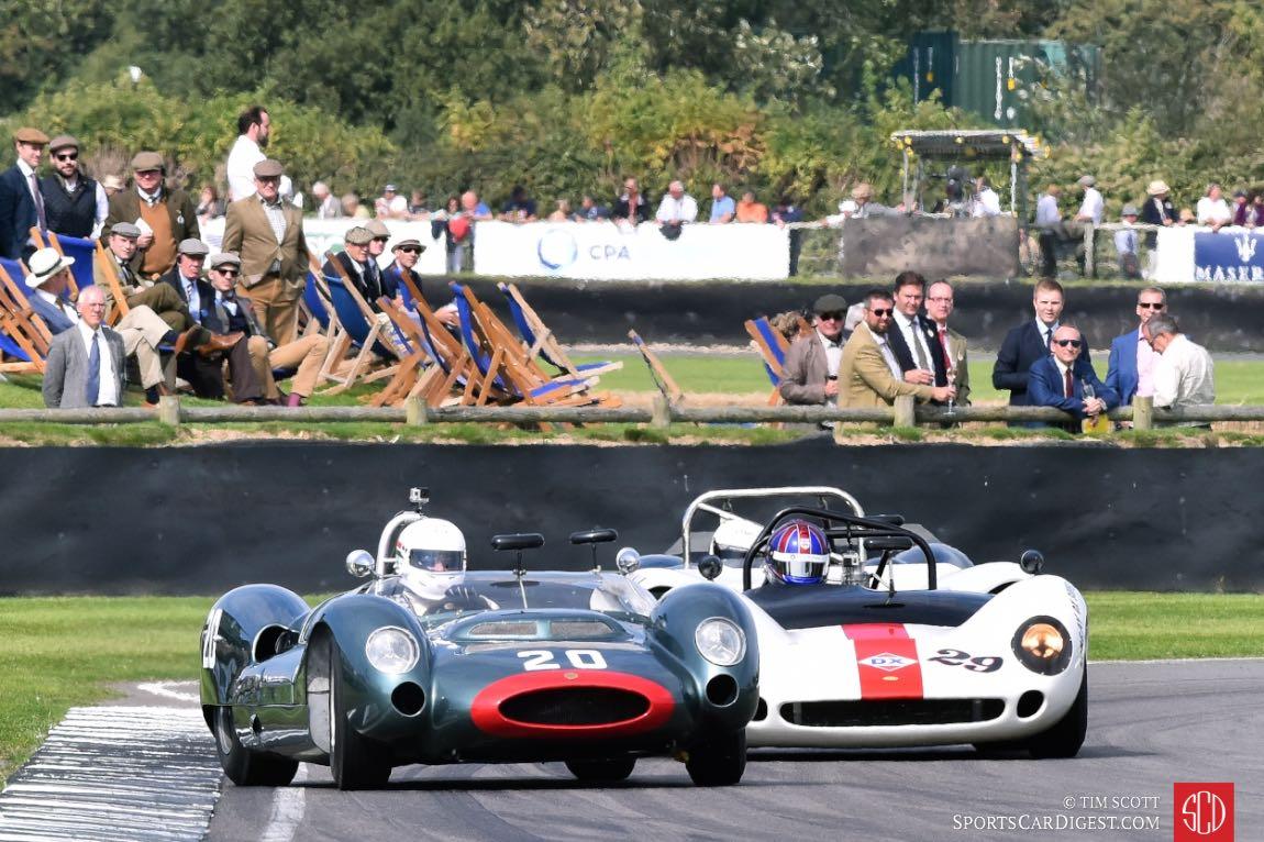 1964 Cooper-Maserati T61P 'Monaco' and 1966 Lola-Chevrolet T70 Spyder