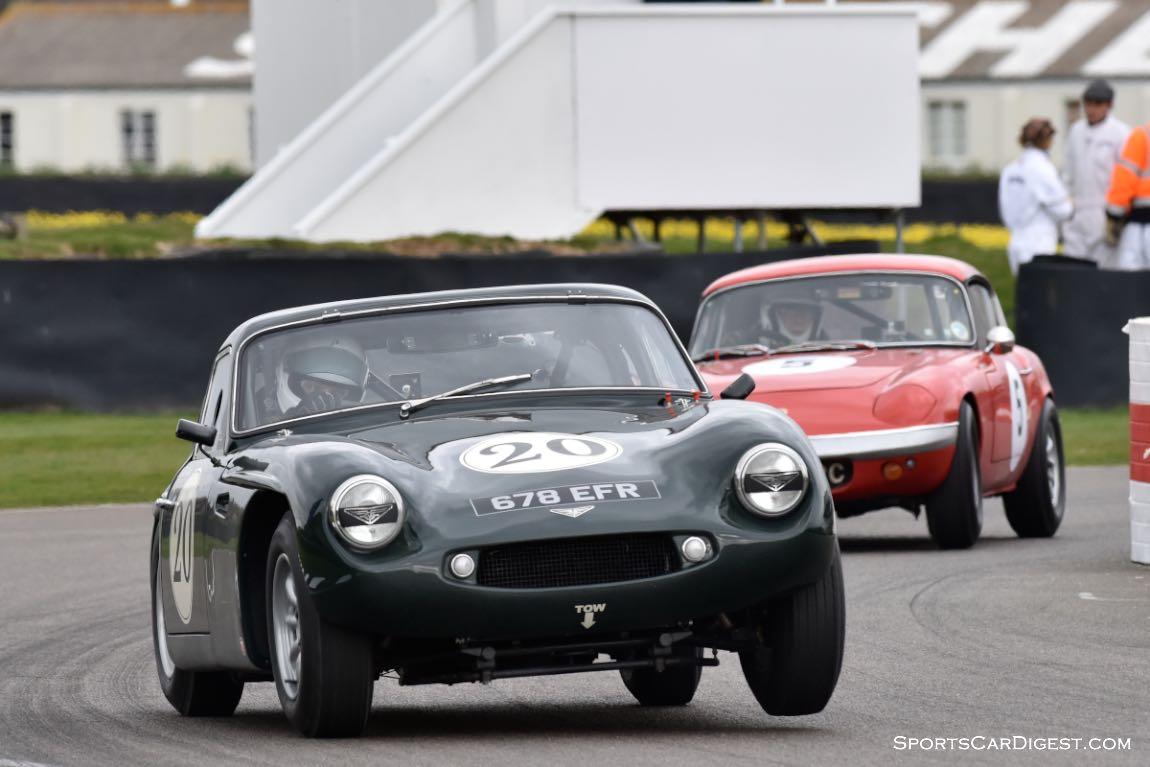1963 TVR Grantura MkIII and 1965 Lotus Elan S2