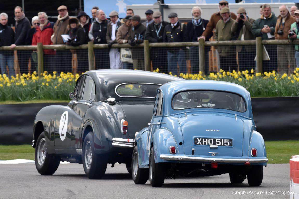 1952 Jaguar MkVII and 1959 Morris Minor