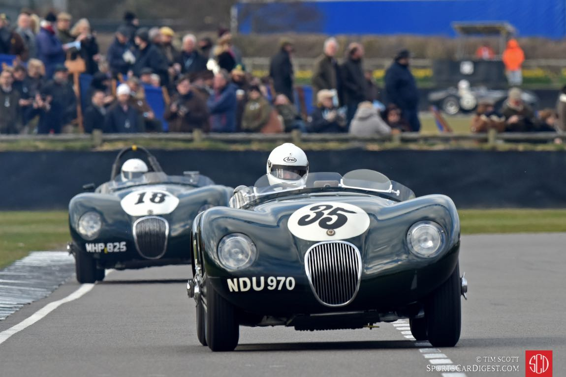 1953 Jaguar C-Type and 1952 Jaguar C-Type