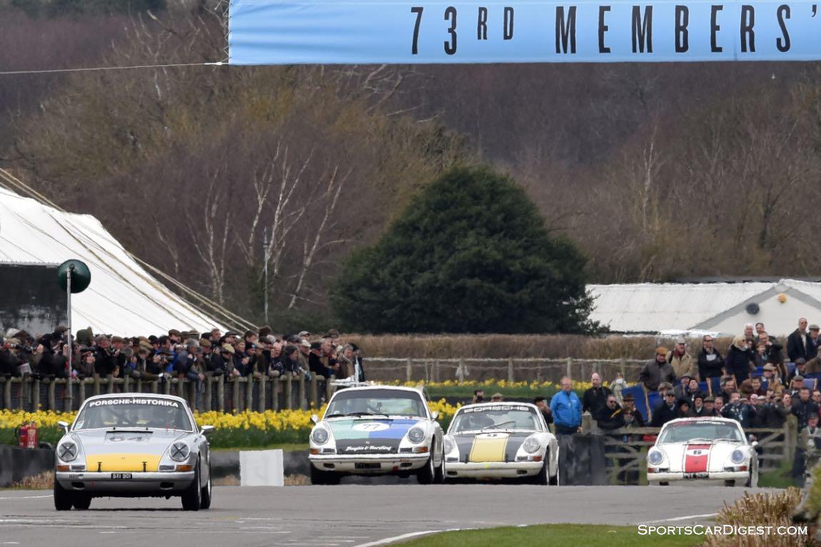 Pre-1966 2 litre Porsche 911 race at Goodwood Members Meeting 2015