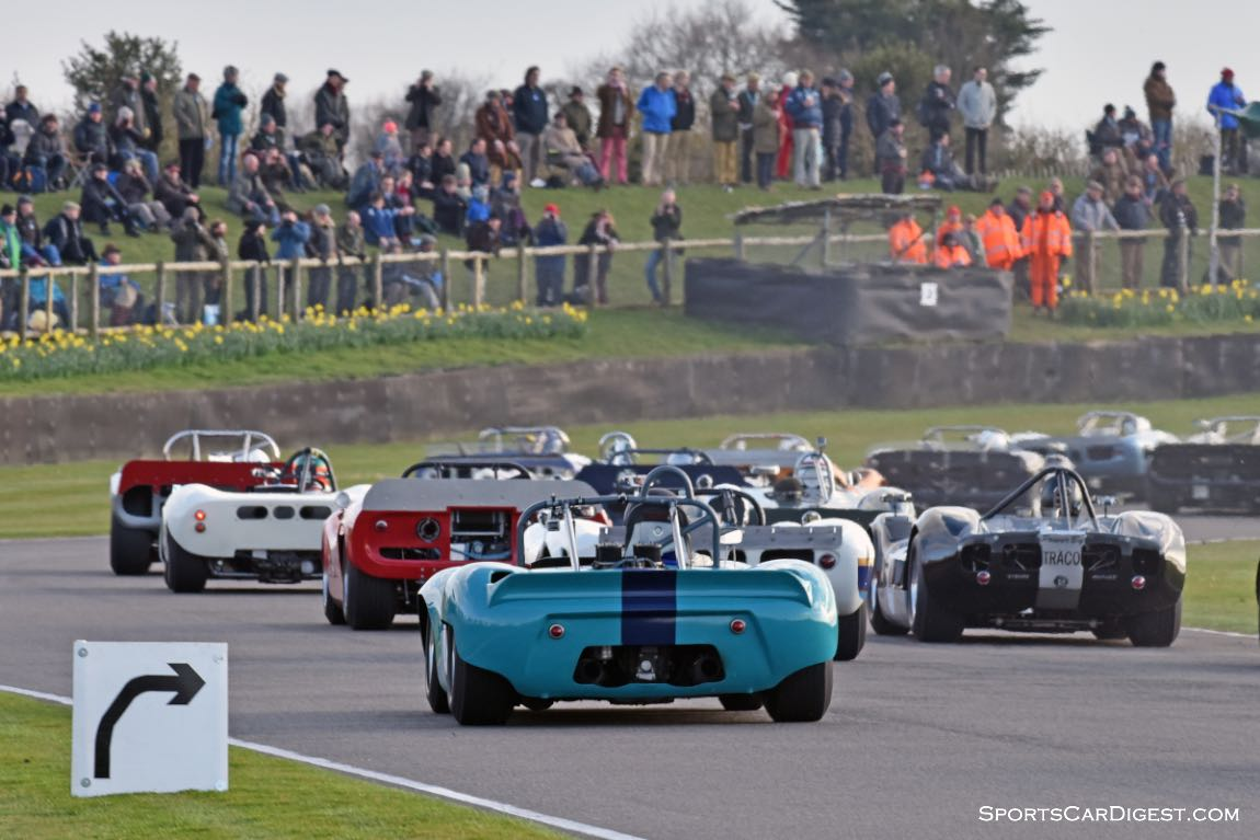 Bruce McLaren race for Pre-1966 CanAm and Group 7 Prototypes - Goodwood Members Meeting 2015