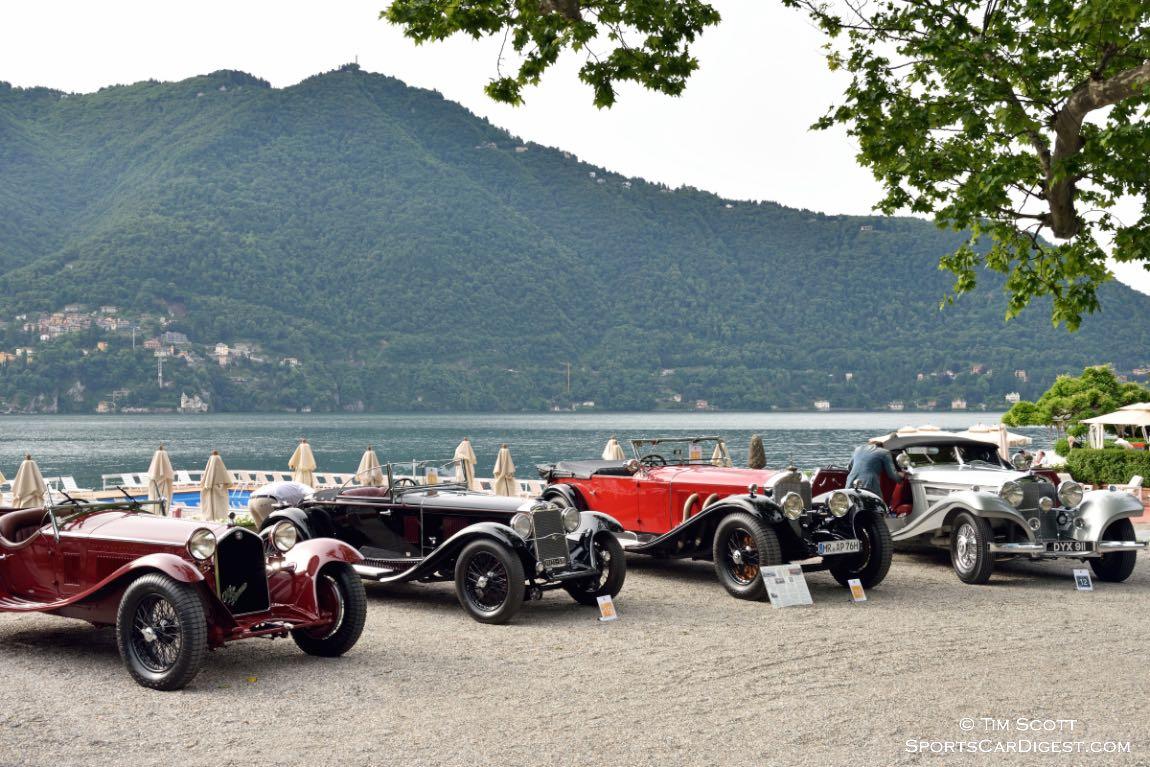 1932 Alfa Romeo 8C 2300 Zagato Spider, 1931 OM Superba 665 SSM, 1930 Mercedes-Benz 710 SS Tourer and 1937 Mercedes-Benz 540 K Special Roadster