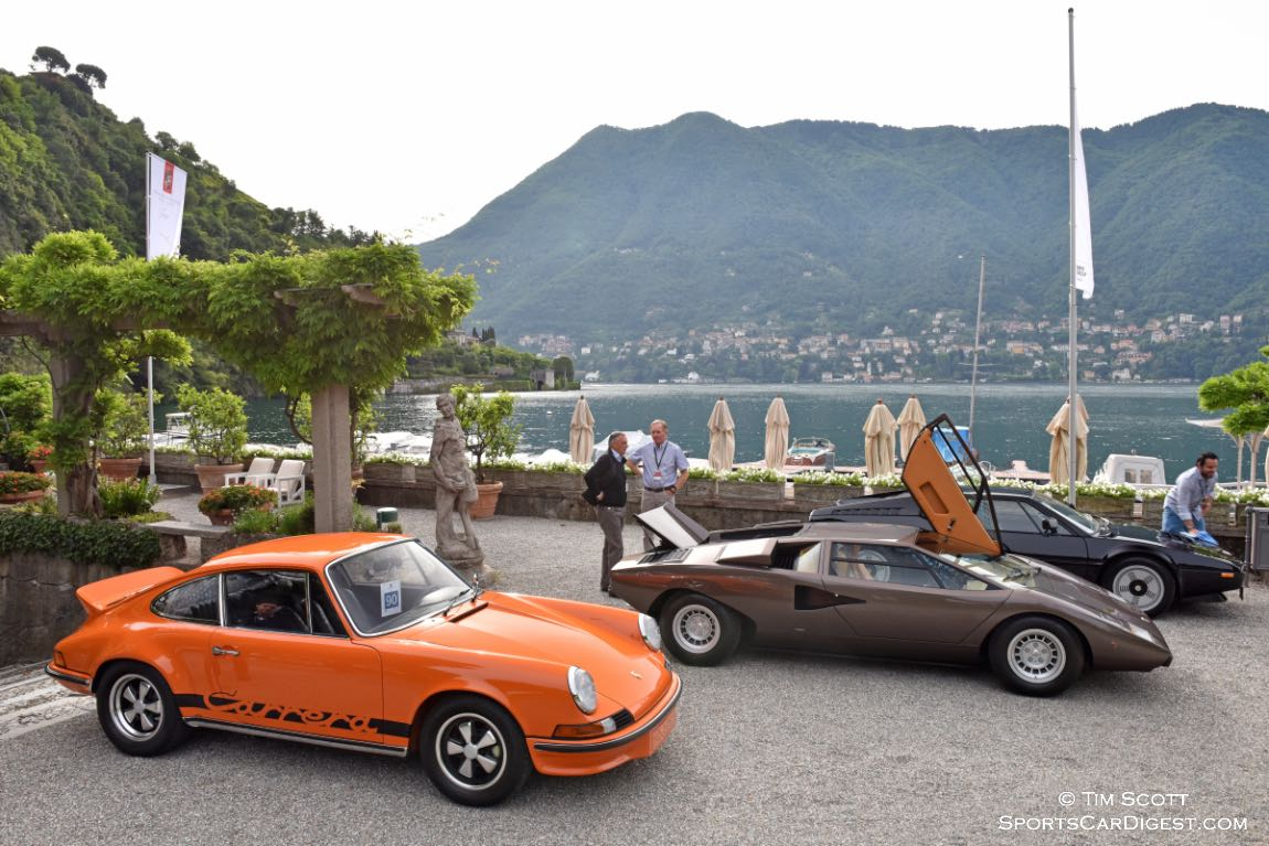 1973 Porsche 911 Carrera RS, 1976 Lamborghini Countach LP400 and 1978 BMW M1