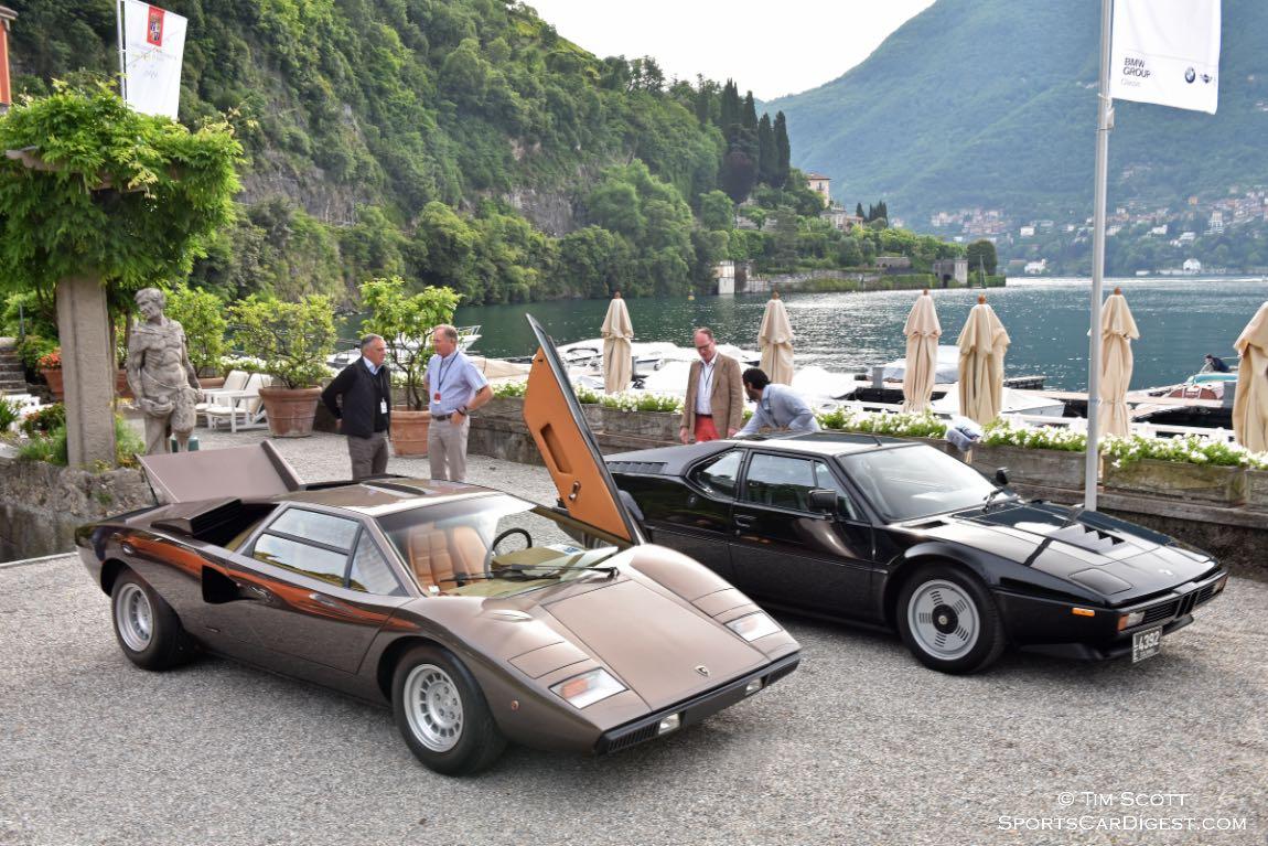 1976 Lamborghini Countach LP400 and 1978 BMW M1