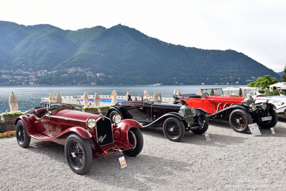 1932 Alfa Romeo 8C 2300 Zagato Spider, 1931 OM Superba 665 SSM, 1930 Mercedes-Benz 710 SS Tourer and