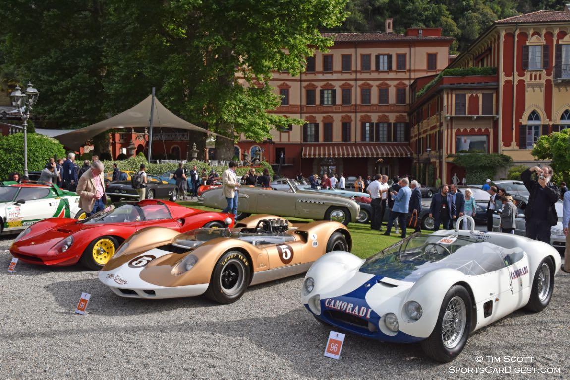 1966 Ferrari Dino 206 S, 1964 McLaren M1-A, 1959 Maserati Tipo 60/61 Birdcage Spider by Allegretti