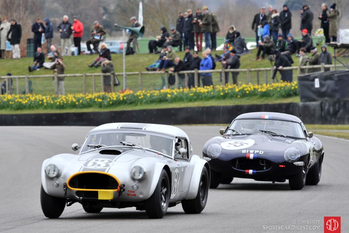 1963 AC Cobra 289 and 1962 Jaguar E-type 'Semi-lightweight Lowdrag'