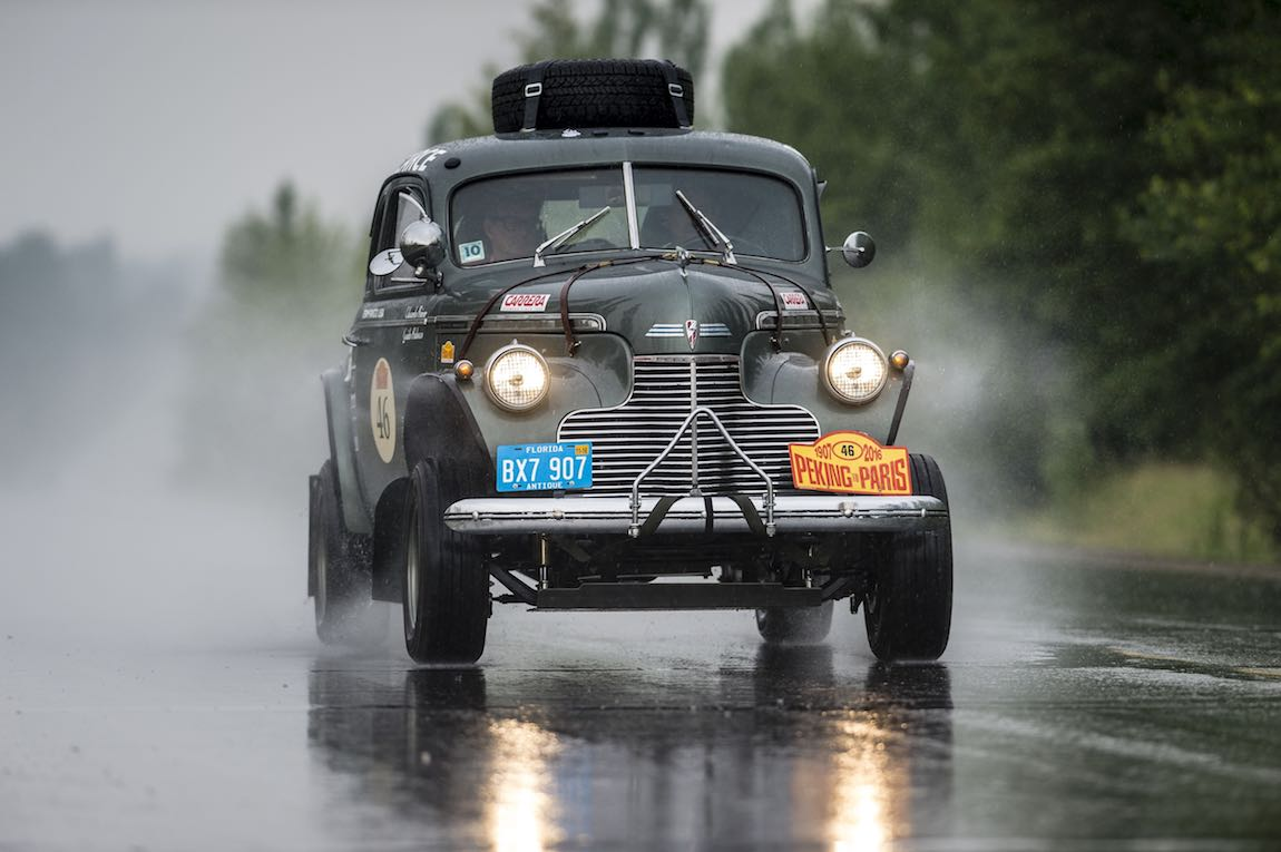 Car 46. Guido Balocco(USA) / Edward Beiner(USA)1940 - Chevrolet Coupe3850, Peking to Paris 2016., Peking to Paris 2016. Day 02. Datong - Erenhot