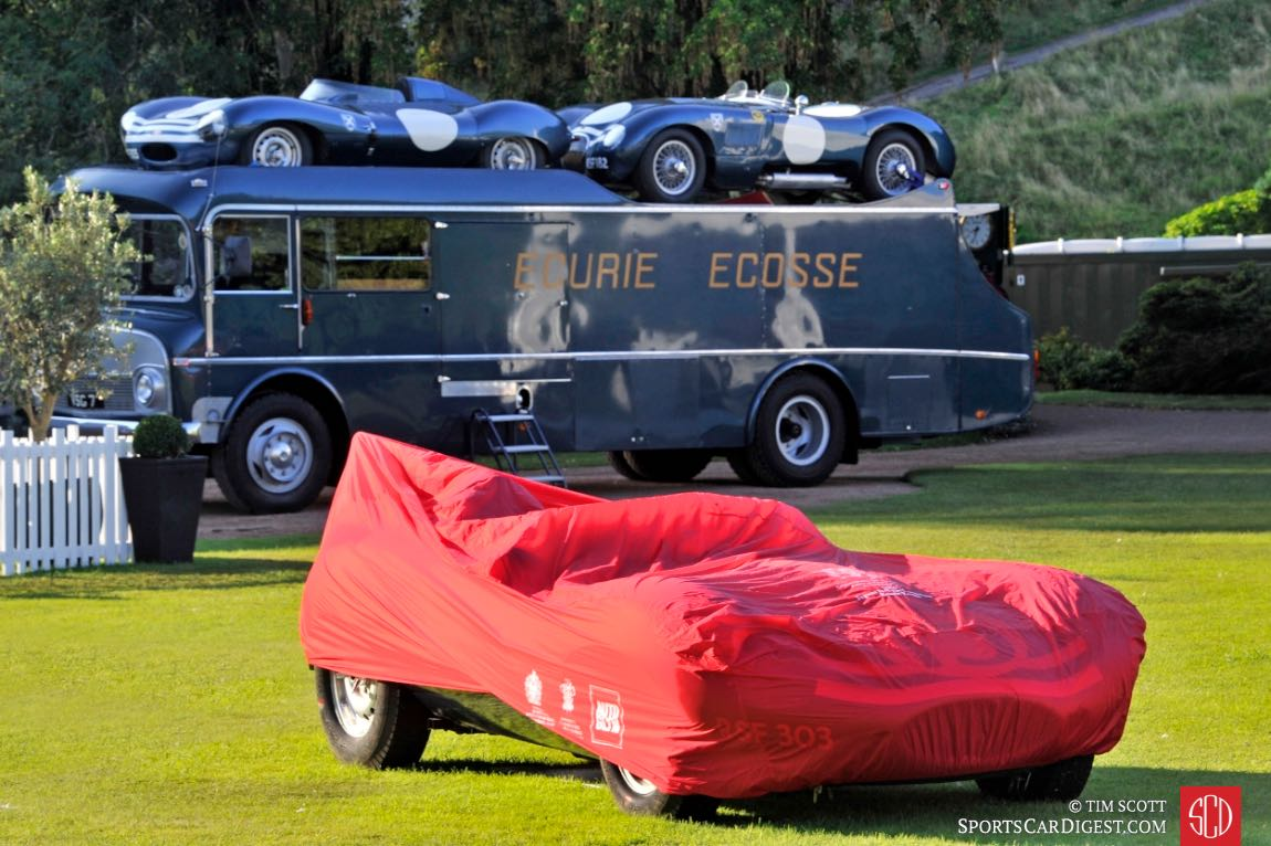 Ecurie Ecosse display included a 1959 Commer Ecurie Ecosse Transporter
