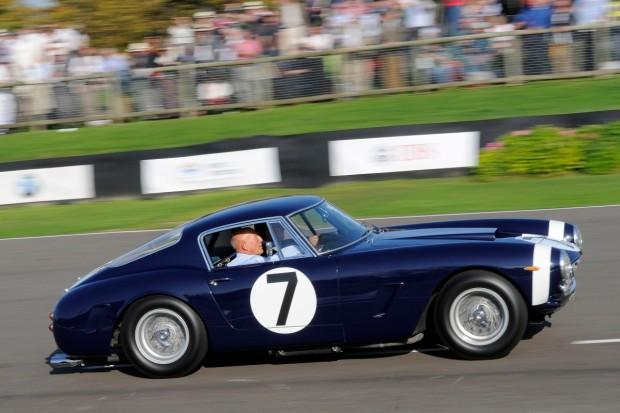 Sir Stirling Moss in the ex-Rob Walker team Ferrari 250 GT SWB
