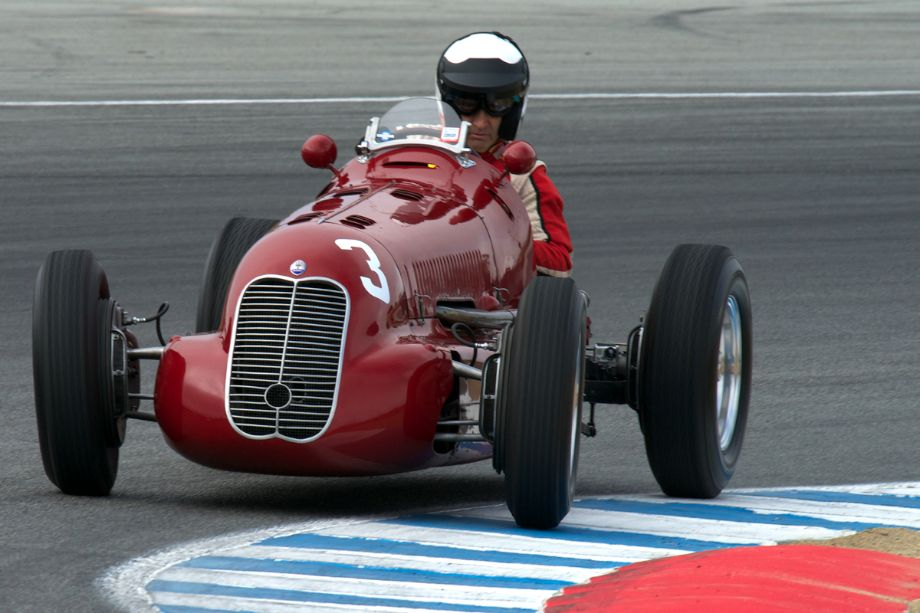 Paddins Dowling's 1939 Maserati 4CL in turn two.