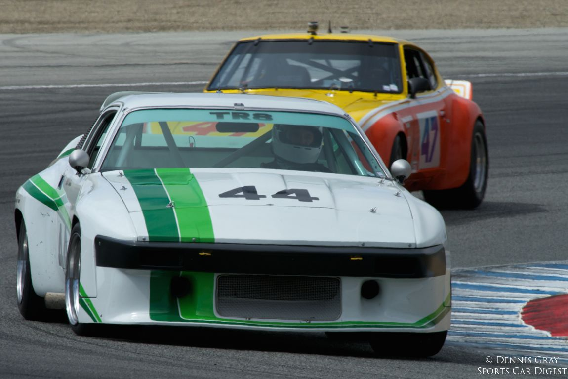 Jay Moyes in his 1979 Triumph TR8.