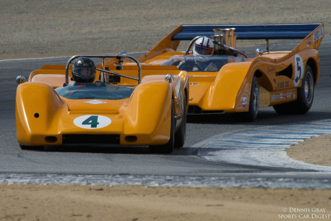 Richard Griot's 1967 McLaren M6A in turn two Sunday.