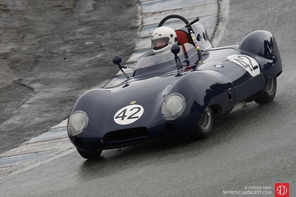 Arthur Cook - 1958 Lotus Eleven during Sunday's wet race.