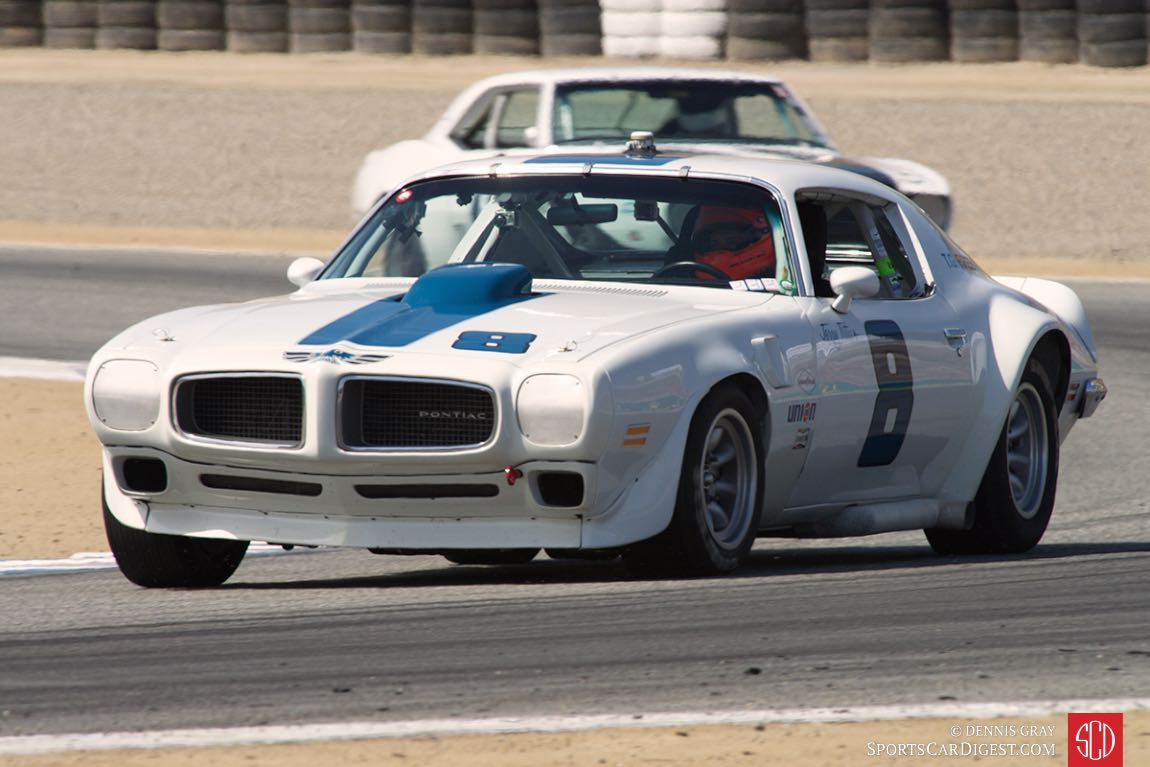 1970 Pontiac Trans Am driven by Robert Kauffman.