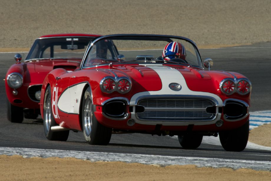 1960 Corvette driven by Gregory Johnson.