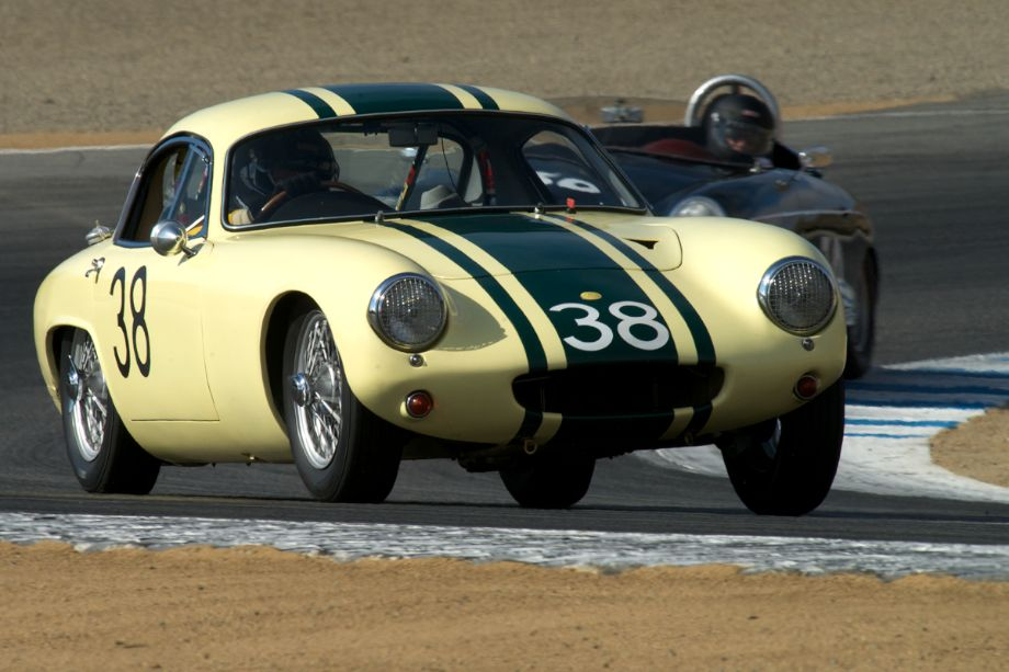 1962 Lotus Elite driven by Henry Moore.