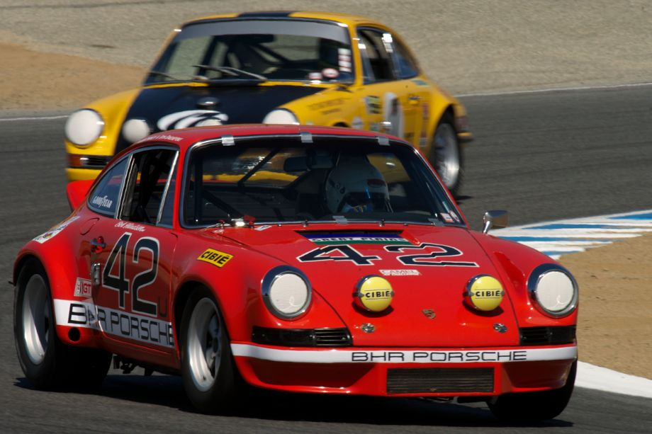Kevin O'Callaghan's 1972 Porsche 911S Coupe in turn two.