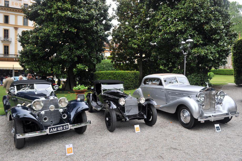 1936 Mercedes-Benz 500K Special Roadster, 1931 Alfa Romeo 6C 1750 Gran Sport Zagato and 1938 Rolls-Royce Wraith 2-Door Saloon by Erdmann and Rossi