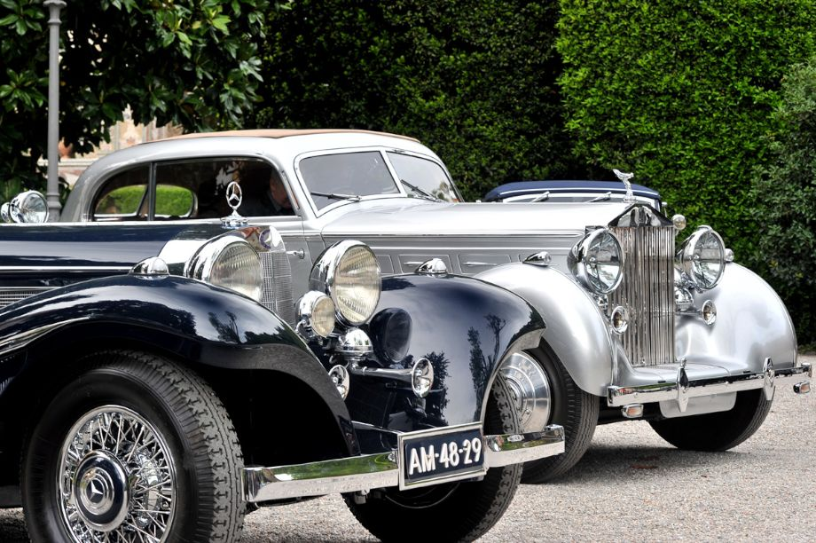 1936 Mercedes-Benz 500K Special Roadster and 1938 Rolls-Royce Wraith 2-Door Saloon by Erdmann and Rossi