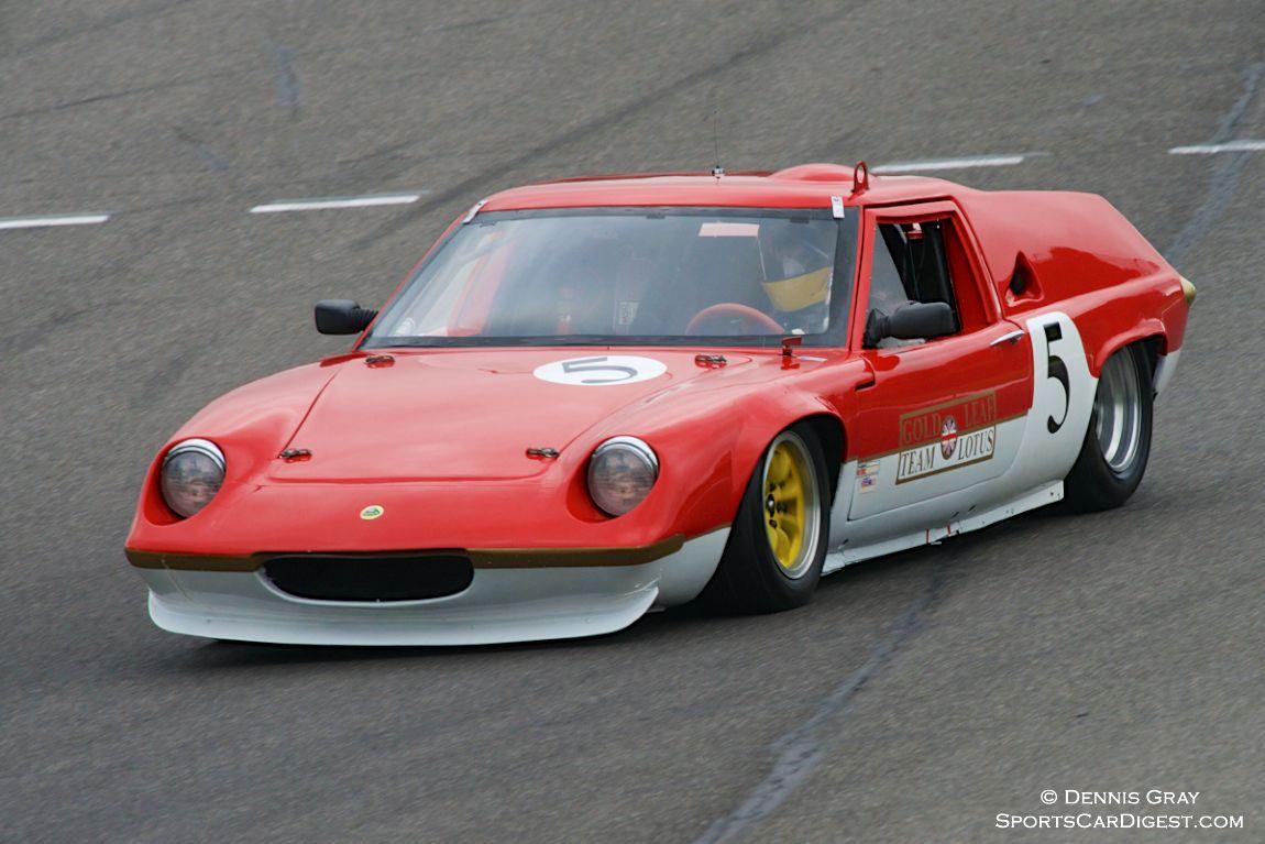James Roberts in his Lotus 47
