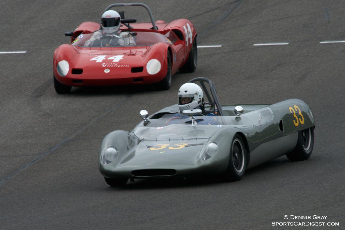Robert Maurer's Elva Mark 7 following Jim Gewinner's Lotus 23B