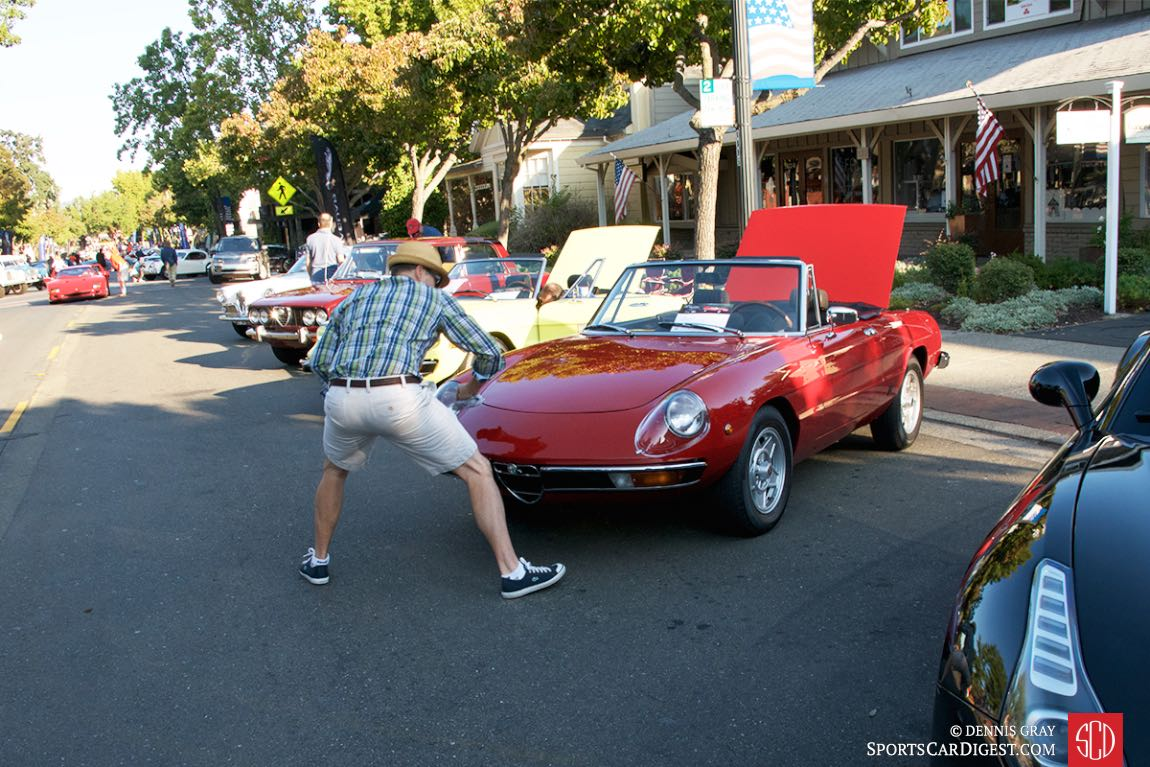 Polishing and prepping at the Danville Concours