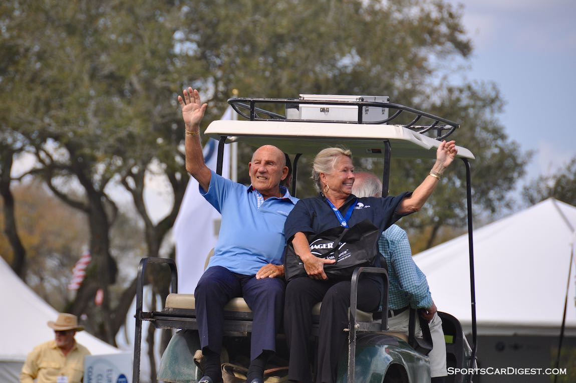 Sir Stirling and Lady Susie Moss at the Amelia Island Concours d'Elegance 2015