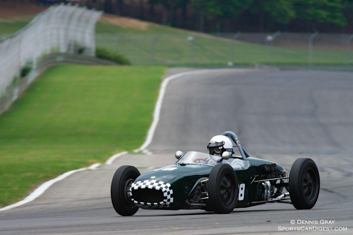 Miles Whitlock in his Lotus 18