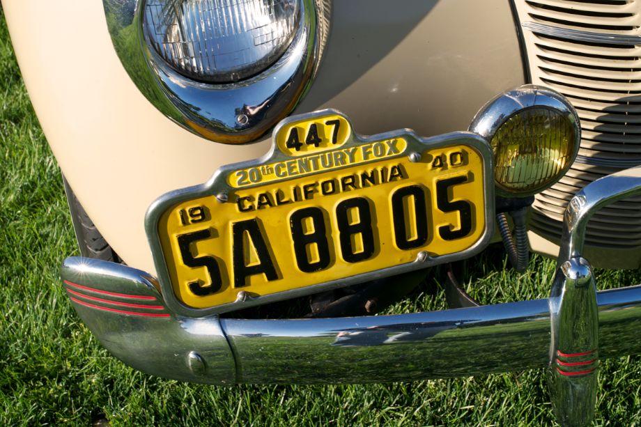1940 Ford 'Woody' original plates.