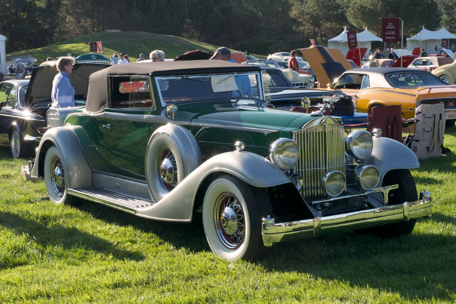 1933 Packard Convertible Coupe.