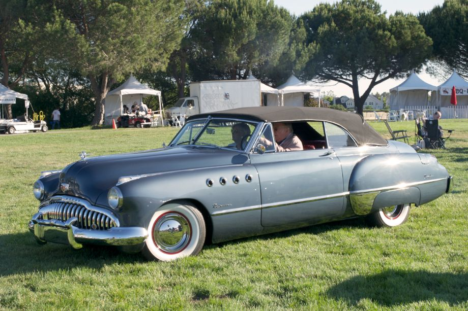 1950 Buick Roadmaster Convertible. The first Buick to use the four 'ventiports' on the front fenders.