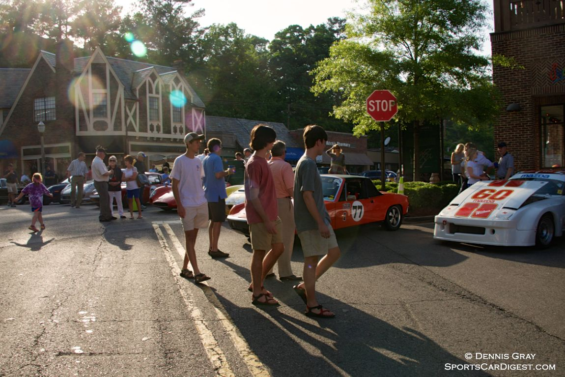 15 Race cars ran 10 miles on public highways to Mountain Brook, joining 80 collector cars for a get-together