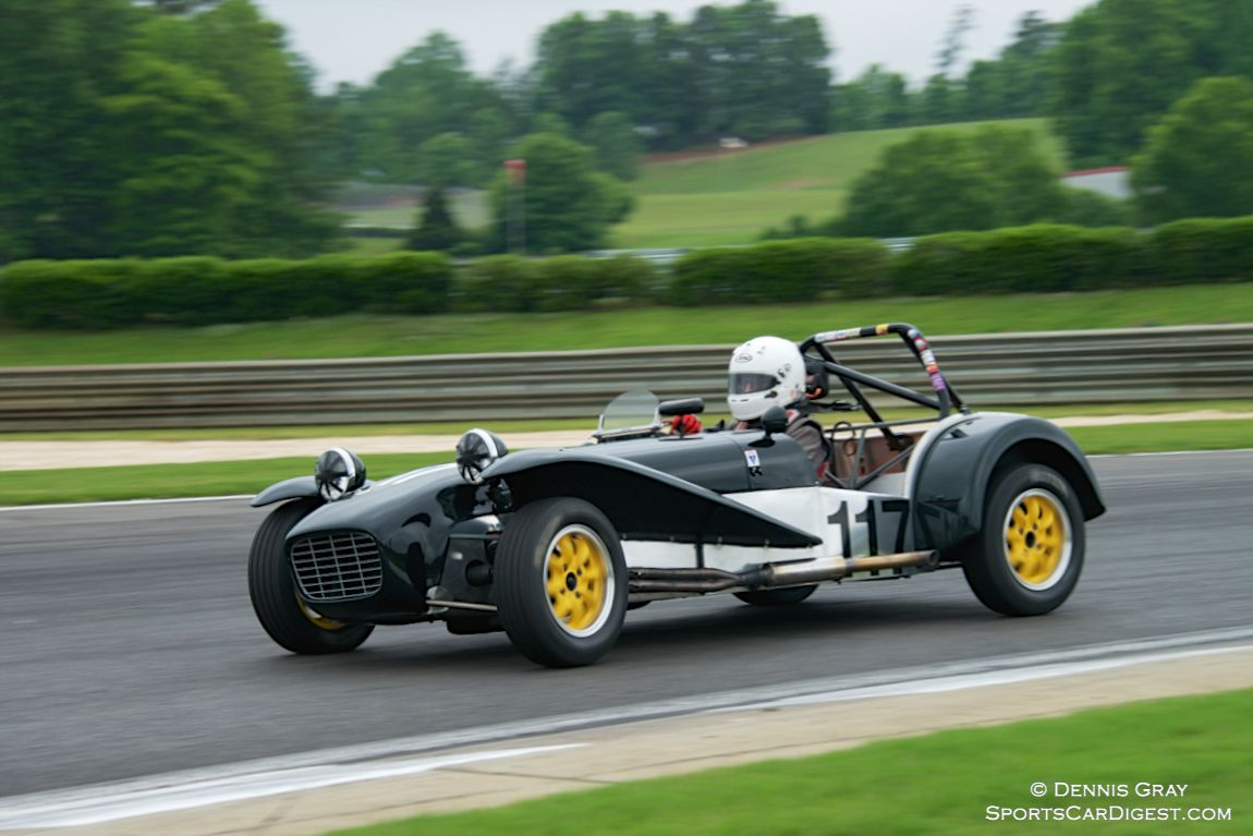 Robert Davis in his Lotus 7