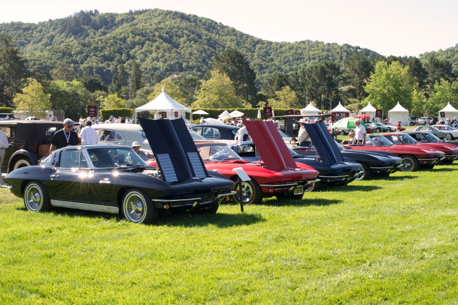 Corvettes were featured in honor of the 60th anniversary